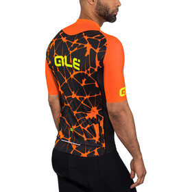Alé Cycling Cracle Shortsleeve Jersey Herren black-flou orange-flou yellow